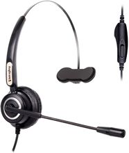 wantek corded telephone noise canceling mic quick disconnect for call center telephone systems with plt m10 m12 m22 amplifiers Corded Headset with Microphone for Cisco IP Telephone 7940 7960 7970 7962 7975 7961 7971 7960 8841 9941 M12 M22 and All 79xx