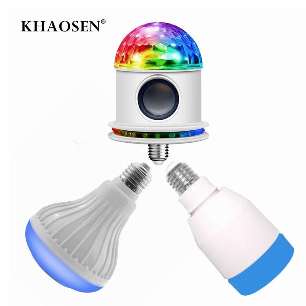 E27 Wireless Bluetooth Speaker+12W RGB Bulb LED Lamp 110V 220V Smart Led Light Music Player Audio With Remote Or Phone APP