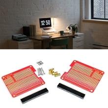 67JA 4 Sets GPIO Breakout DIY Breadboard  Shield Red Expansion Board Kit