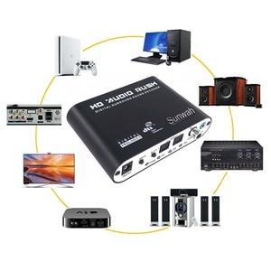 Image 2 - Convertisseur SPDIF optique 5.1 décodeur AC3 DTS Surround son amplificateur 3.5 AUX Coaxial numérique à analogique 6 RCA HD Audio Rush