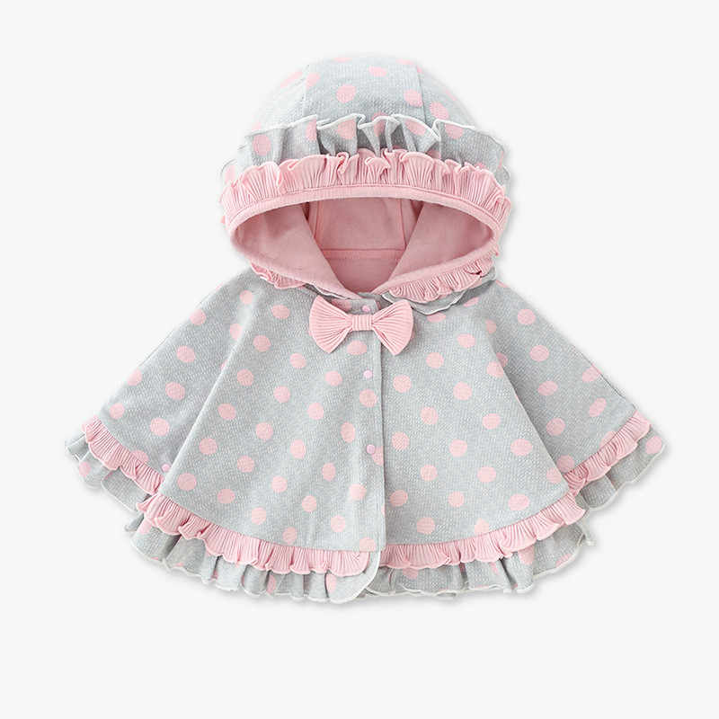 Infant Baby Girls Winter Clothes Bunny Ears Warm Cloak Cape Robe Coat Outerwear Snow Wear 0-3 Years Old