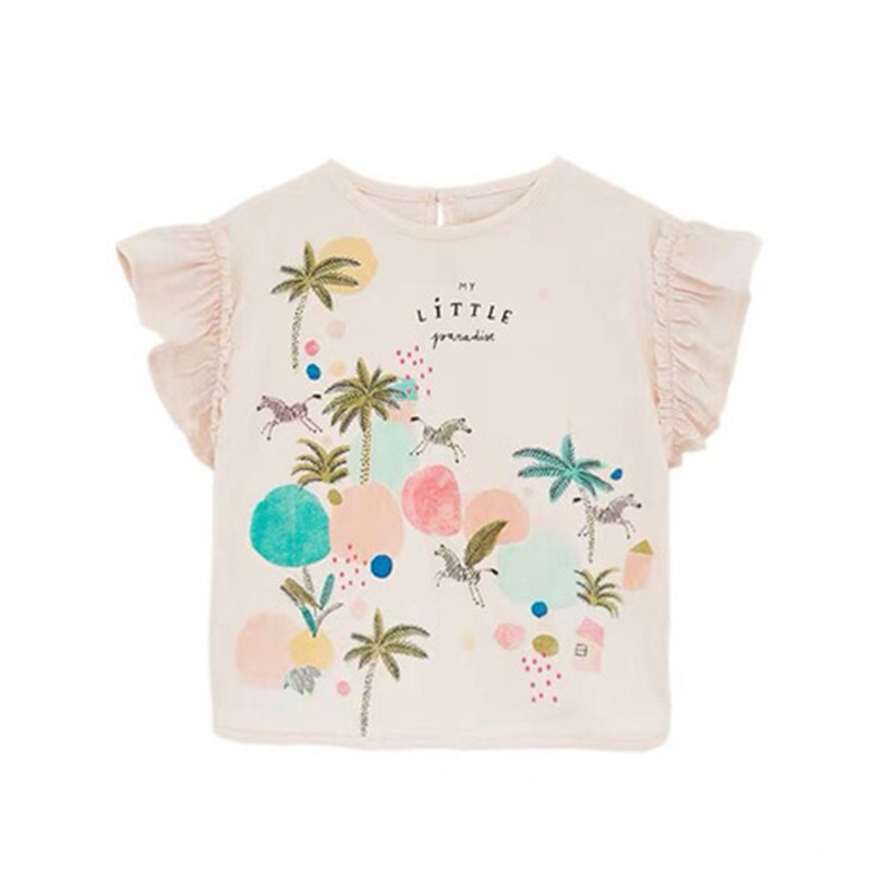 Baby Toddler Boys Girls Summer Clothes Tees 1-7 Years Old Kids Short Sleeve Cartoon Airplane Tops T-Shirt Blouse