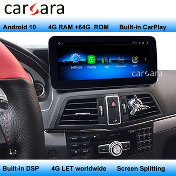 For Mercedes W207 C207 A207 Android 10 Navigator Carplay built in Carplay support 4G LET worldwide DVD Infortainment System image