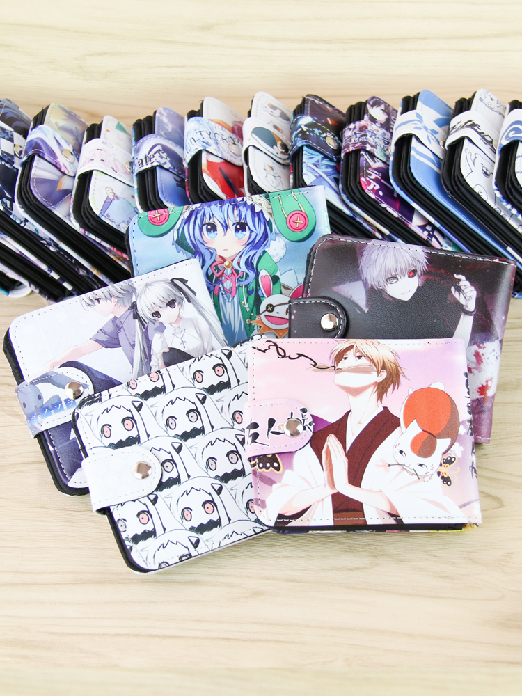 Japan Anime Yosuganosora Edge Of The Empty Cosplay Cartoon Short Wallet PU Leather Purse Card Holder Billfold ZERO Wallet Gifts