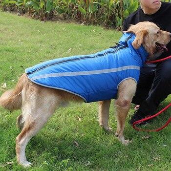 Large Pet Dog Clothes Winter Warm Vest Jacket Waterproof Coat For Bulldog Golden Labrador Clothing