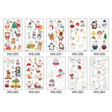 New Waterproof Luminous Christmas Tattoo Stickers Original Cartoon Children's Tattoo Stickers Disposable Tattoo Stickers