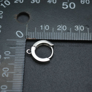 Image 3 - Níquel livre anti desvanecimento forma redonda metal brinco ganchos jóias descobertas 50pc por lote lotes por atacado a granel