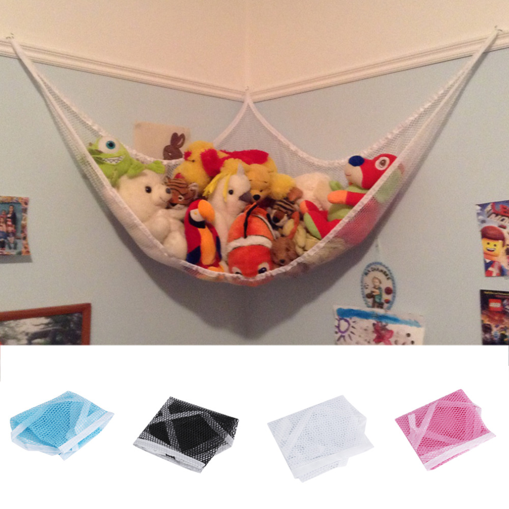 Children Room Toys Sundires Storage Net Pet Plush Toy Hammock Net Organize Storage Holder With 3 Hooks