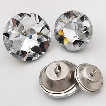 Botões de costura cristal 50 pçs/lote, alta qualidade botões de pedra preciosa de cristal para sofá chapéu camisa botões de vidro para vestuário 18/20/25/30mm