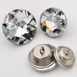50 шт./лот, высококачественные пуговицы с кристаллами и драгоценными камнями, швейные пуговицы для дивана, изголовья рубашки, стеклянные пуг...