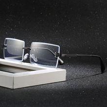 Унисекс квадратные компьютерные очки без оправы Женский анти