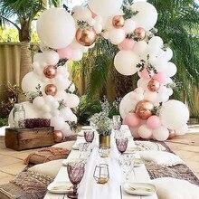 Decoração de casamento balão fosco doces cor mini látex balões branco macio rosa gigante baloon festa de aniversário festival decoração