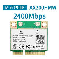 2400Mbps de banda Dual Intel AX200 AX200HMW tarjeta Wifi inalámbrico para la mitad de Mini PCI-Express 2,4G/5 Ghz Wlan Bluetooth 5,0, 802,11 ac/ax