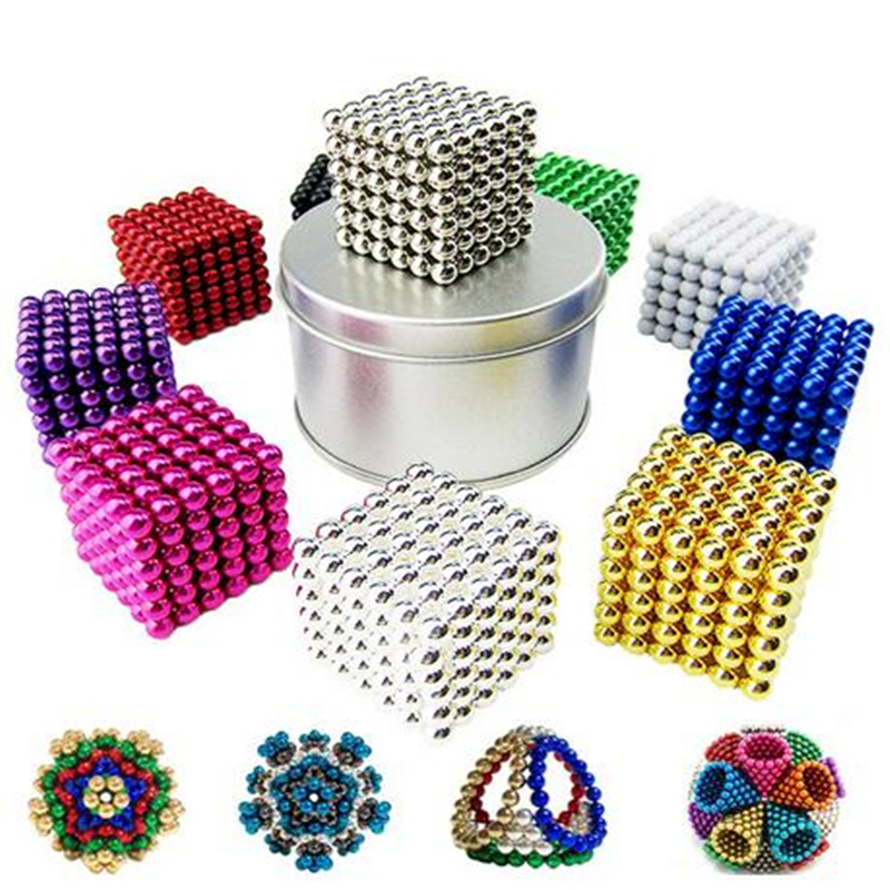 Magic Ball With Gift  Box 216 Pcs 3mm Neo Neodymium Beads Cube Magnet Magic Balls Decompression Neokub Big Kids Gift Toy Balls