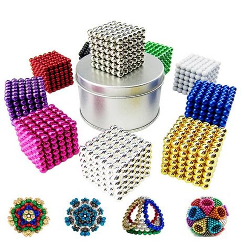 Magic Ball With Gift  Box 216 Pcs 3mm Neo Neodymium Beads Cube Magnet Magic Balls Decompression Neokub Big Kids Gift Toy Balls