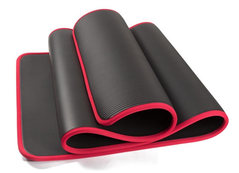 Exercise Sports Gym NBR Non-Slip Mats Fitness Sit-ups Body Shape Yoga Mat 10mm Thick Pilates Anti-Tearing Beginner Pads 12
