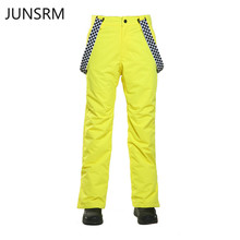 цены Ski pants men windproof waterproof warm adult Korean version of the single board double board ski suit 2019 new men's ski pants