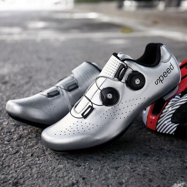 Sapatos de ciclismo de estrada colorido cor reflexiva mudando profissional mountain bike respirável bicicleta corrida auto-bloqueio sapatos 5