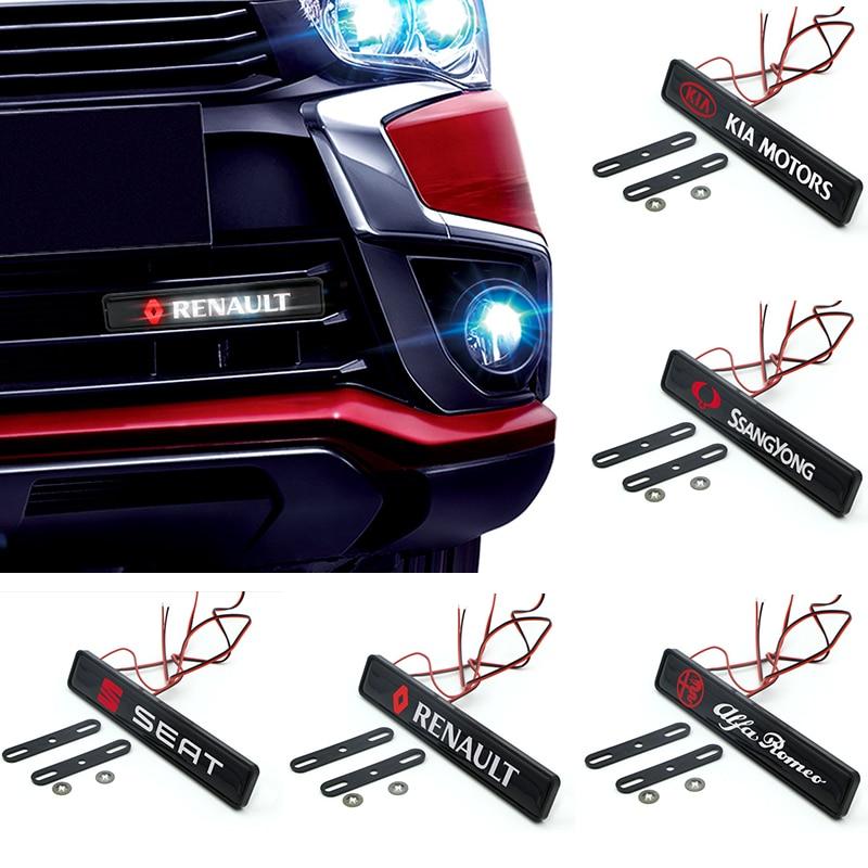 1 шт. Chrome передний капот решетка эмблема светодиодный светильник для Bmw M 3 Series 5 серии 7 серия e46 e90 e60 Z4 X3 X4 X5 X6 автомобильные аксессуары