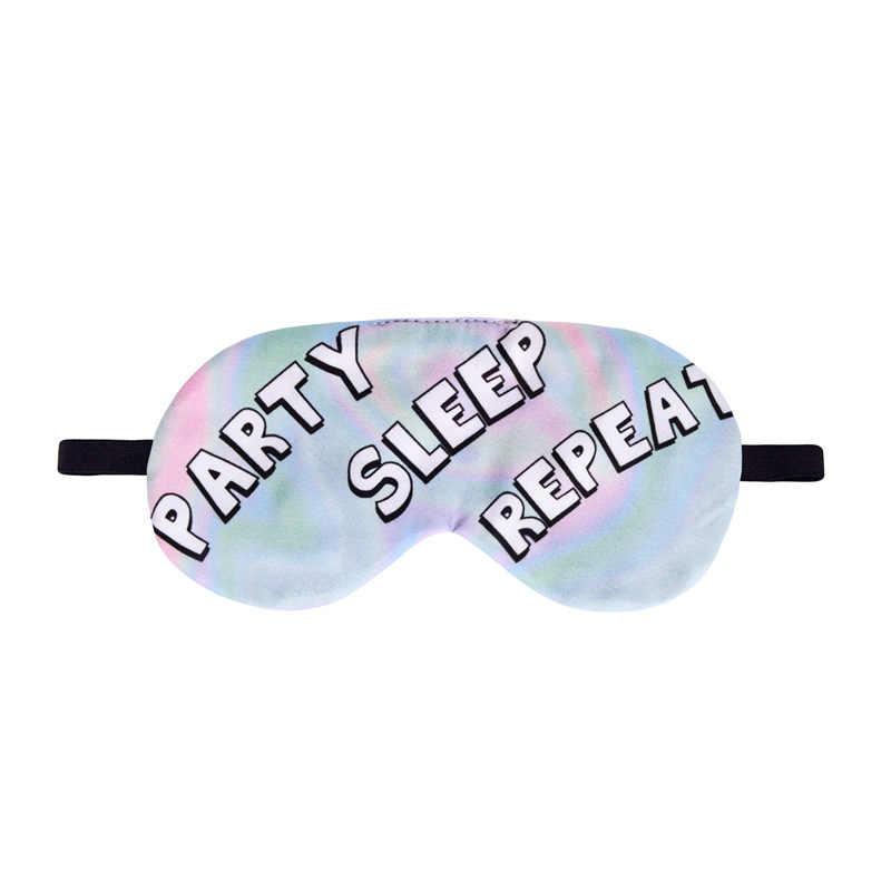Dibujos Animados impresión 3D Sleeping Letter Eye Mask cubierta cuidado de ojo de siesta cortina para vendar los ojos Sleep Mask ojos Cover Sleeping Tools