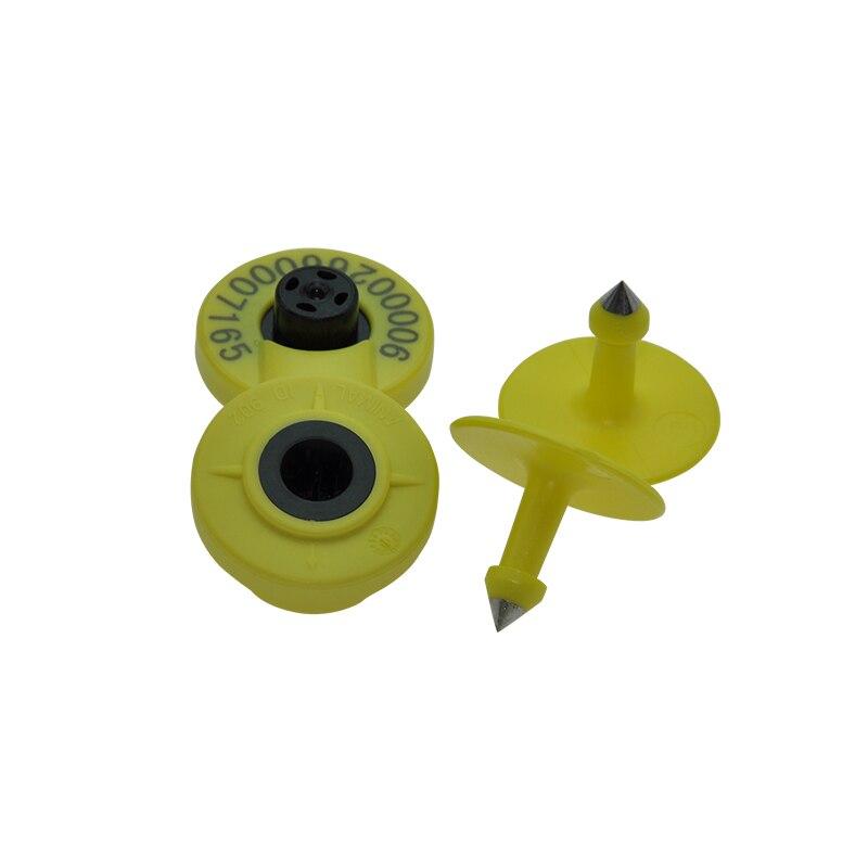 Animal ID Ear Tag 134.2KHz Plastic TPU Waterproof Em4305 Fdx-b For Cattle Tracking Rfid Ear Tag For Swine Pigs Goat Sheep