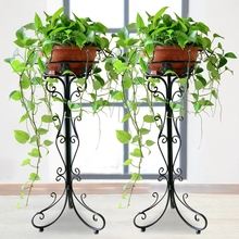 Iron flower stand flowerpot rack floor type European style living room balcony hanging orchid plant rack