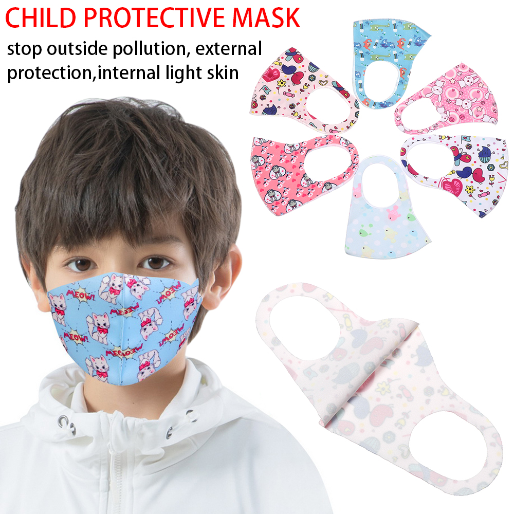 1Pcs New Fashion Adult Kids Anti Dust Sponge Mouth Mask Washable Cute Anti Dust Protective Reusable Cold Prevention Face Mask