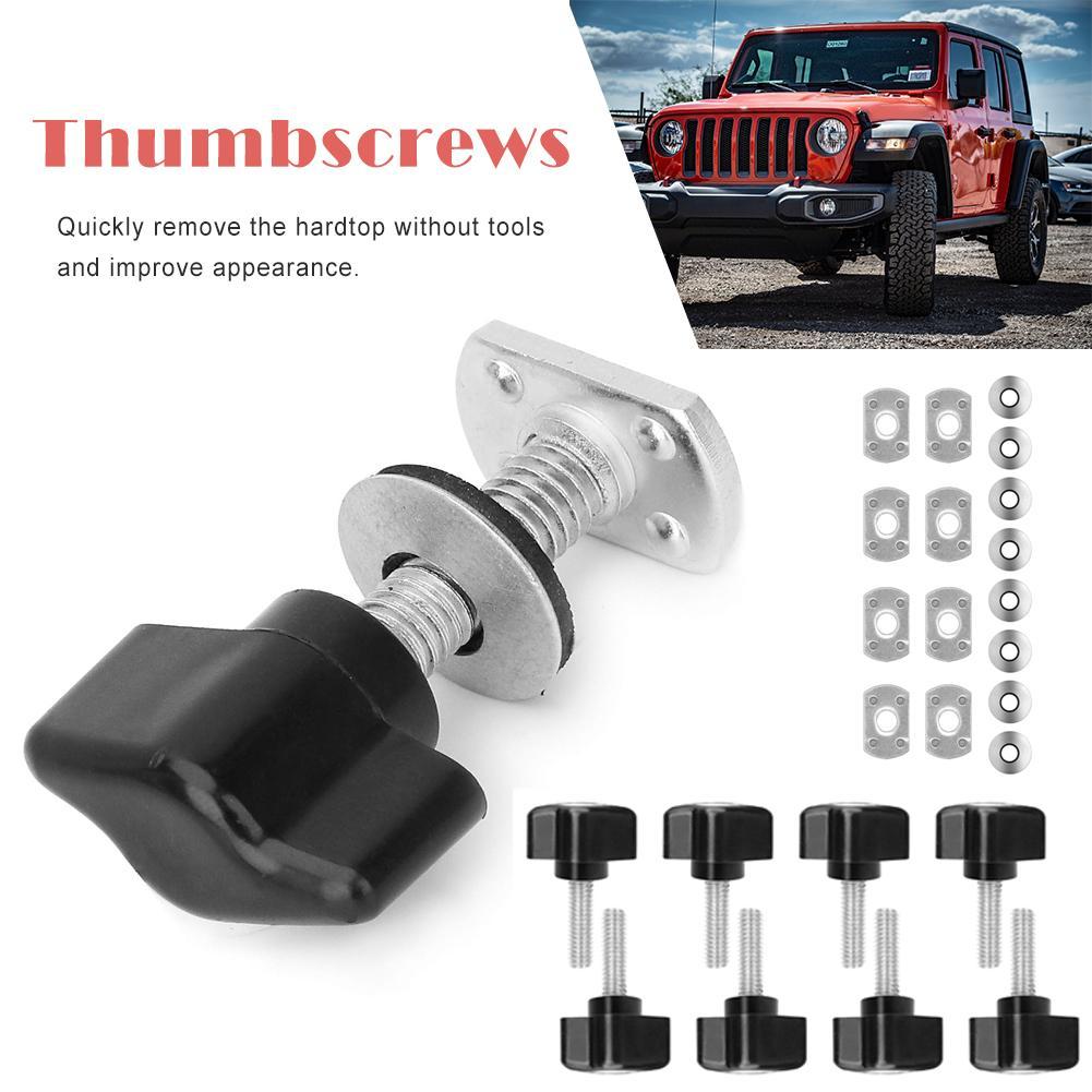 24PCS Screw Set for Jeep Wrangler Roof Thumbscrews Car Modification