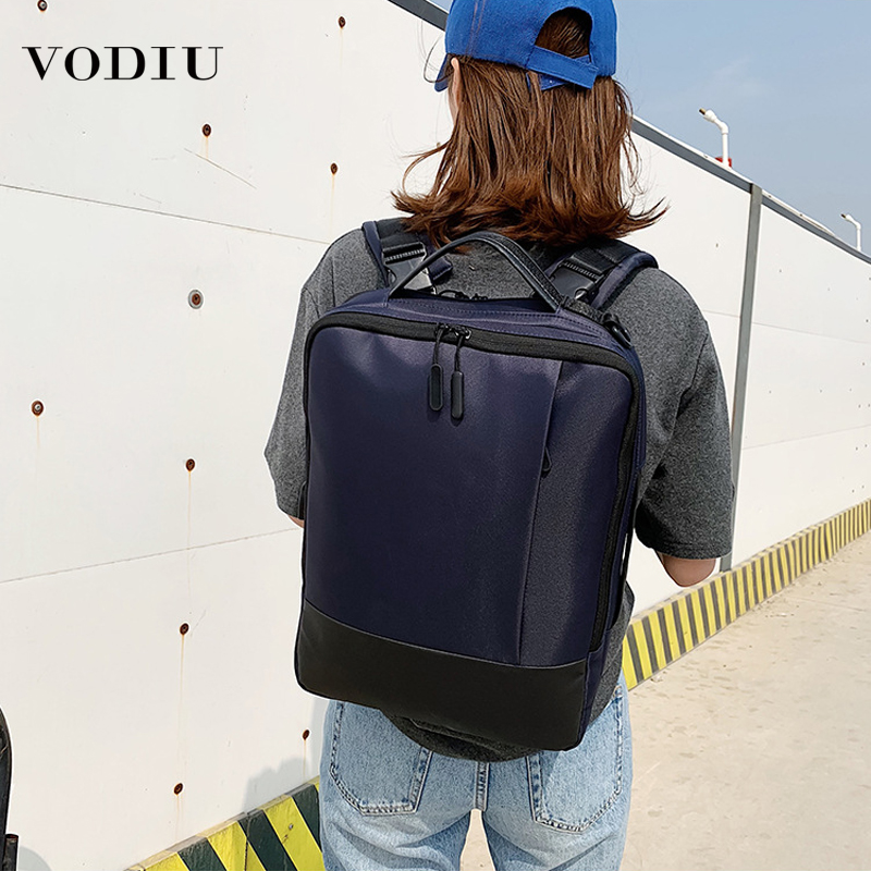 2019 New Waterproof Nylon Backpack USB Charging Large Capacity Backpacks Business Casual Laptop School Bag Travel Shoulder Bags