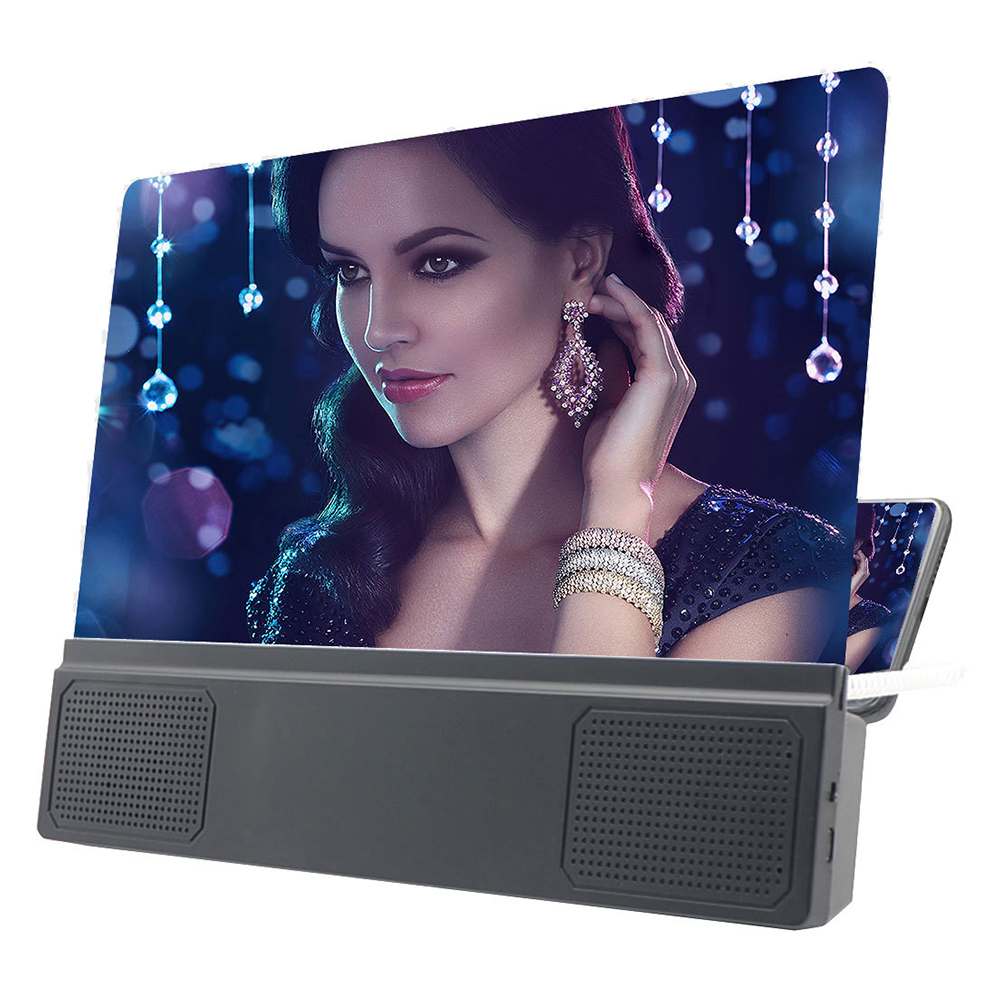 12 Inch Folding Enlarged Magnifying Glass 3D Phone Screen Phone Screen Magnifier Amplifier Telephone Enlarger For Smartphone