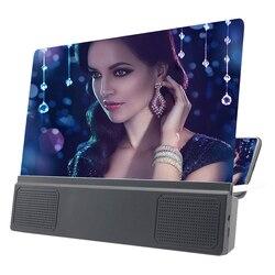 12 Polegada dobrável ampliada lupa tela do telefone 3d ampliador telefone ampliador de tela do telefone para smartphone