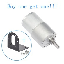 цена на 37GB3530 Dia 37mm Geared Motor DC 12V 14rpm 30rpm 40rpm 50rpm 90rpm High Torque 2.5W Small Size DC Gear Motor with Bracket