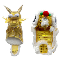 Funny Cat Clothes New Year's Pet Chinese Costume Sequins Lion Dance Dragon Dance Dog Clothes