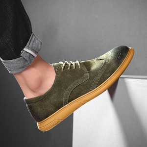 Image 5 - Mannen Platte Holle Platform Schoenen Oxfords Britse Stijl Klimplanten Brogue Schoen Mannelijke Lace Up Schoenen Plus Size 38 46 casual Schoenen