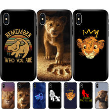 Black tpu case for iphone 5 5s se 6 6s 7 8 plus x 10 silicon cover for iphone XR XS 11 pro MAX case the lion king 2019(China)