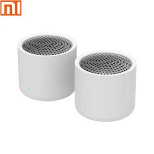 Image 1 - Оригинальный Bluetooth динамик xiaomi, стерео 2 упаковки, mi динамик, стерео, портативный мини динамик, аудио для звонков, Bluetooth 5,0, стандартный
