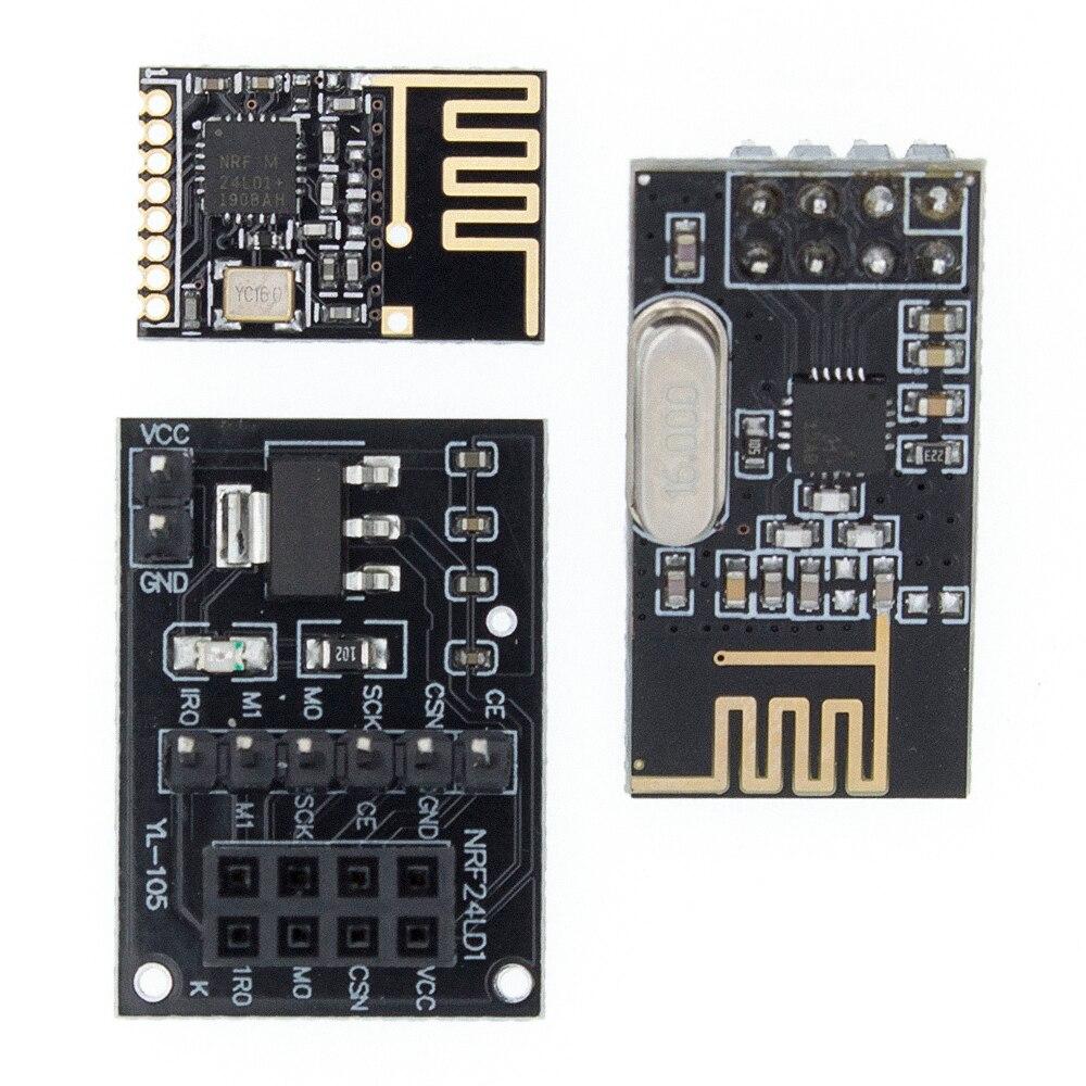 Émetteur-récepteur sans fil NRF24L01 + Module d'antenne 2.4GHz pour antenne de carte PCB de module de microcontrôle d'arduino