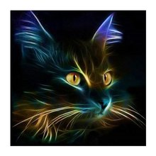 Lovely Cat DIY 5D Diamond Painting Cross Stitch Paint By Number Kits For Adults Kids Arts Crafts & Sewing For Home Wall Decor(China)