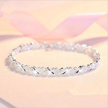 925 Sterling Silver Zircon Cross bracelet 1