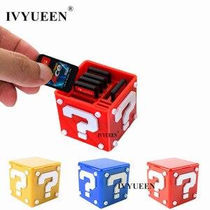Image 1 - IVYUEEN Cho Nintend Switch NS Lite 12 Trong 1 Xách Tay Đựng Thẻ Game Bao Da Hộp Lưu Trữ Giá Đỡ Cầm 8 Trò Chơi thẻ Và 4 Thẻ TF