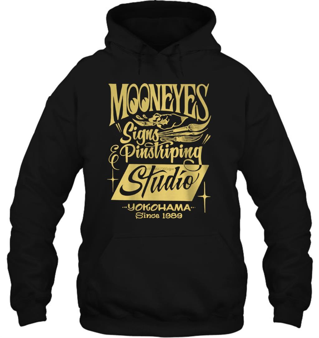 Mooneyes Moon Equipped Speed Signs Pinstriping Studio Racing Style Streetwear Men Women Hoodies Sweatshirts