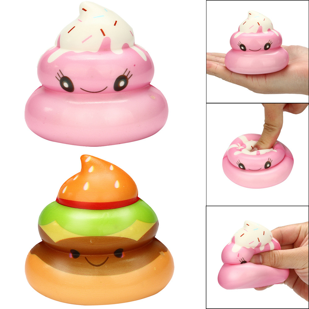 Squishies Kawaii Yummy Food Poo Cream Scented Stress Relief So Cute You May Feel Better Toys Squeeze Toys Cute Slow Rising
