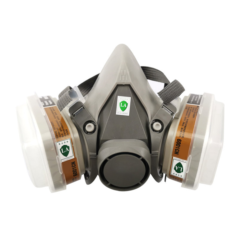 6200 Half Facepiece Mask With Dual Filter Can Anti-dust Anti-toxic Industrial Respirator Pm 2.5 Mask