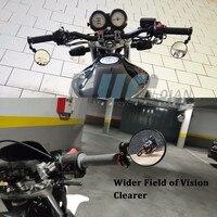 "black silver Motorcycle 7/8"" 22mm Handle Handlebar Bar End Rear View Side Mirror CNC Aluminum Black Silver For Suzuki Honda KTM Yamaha BMW (5)"