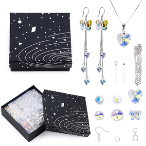 A Set Jewelry Making Kit Glass Beads Crystal Pendant Jewelry Making Tools Earring Necklace Findings DIY handmade Craft Supplies