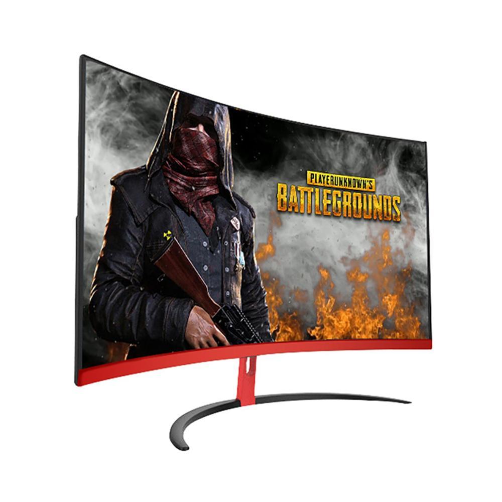 Wearson 1800R 32 pouces incurvé écran large LCD moniteur de jeu panneau de flexion 2mm côté lunette-sans HDMI VGA entrée sans scintillement