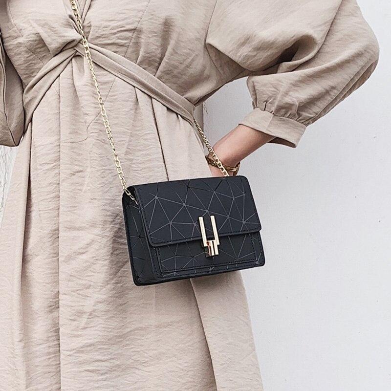 Women Fashion Shoulder Messenger Bags Ladies Geometric Plaid Crossbody Handbag Female Mini Flap Bag New Korean Style Tote SS0425 (6)