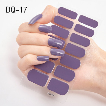 14pcs/sheet Glitter Gradient Color Nail Stickers Nail Wraps Full Cover Nail Polish Sticker DIY Self-Adhesive Nail Art Decoration 118