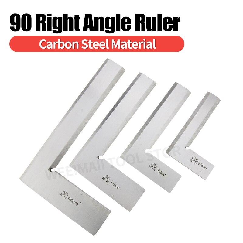 Regla de carpintero con borde de cuchillo, herramientas de medición de escuadra de precisión, medidores de 63x40 80x50 100x63 250x160mm, reglas de ángulo de 90 grados
