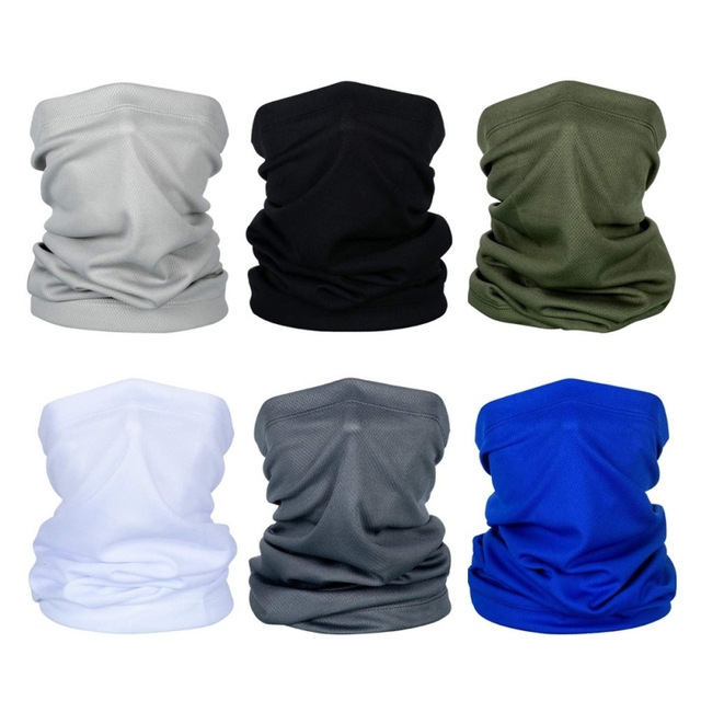 Cycling Neck Kerchief Scarf Outdoor Sports Riding Face Mask Skull Bandanas Halloween Cosplay Scarves Wicking Seamless 3